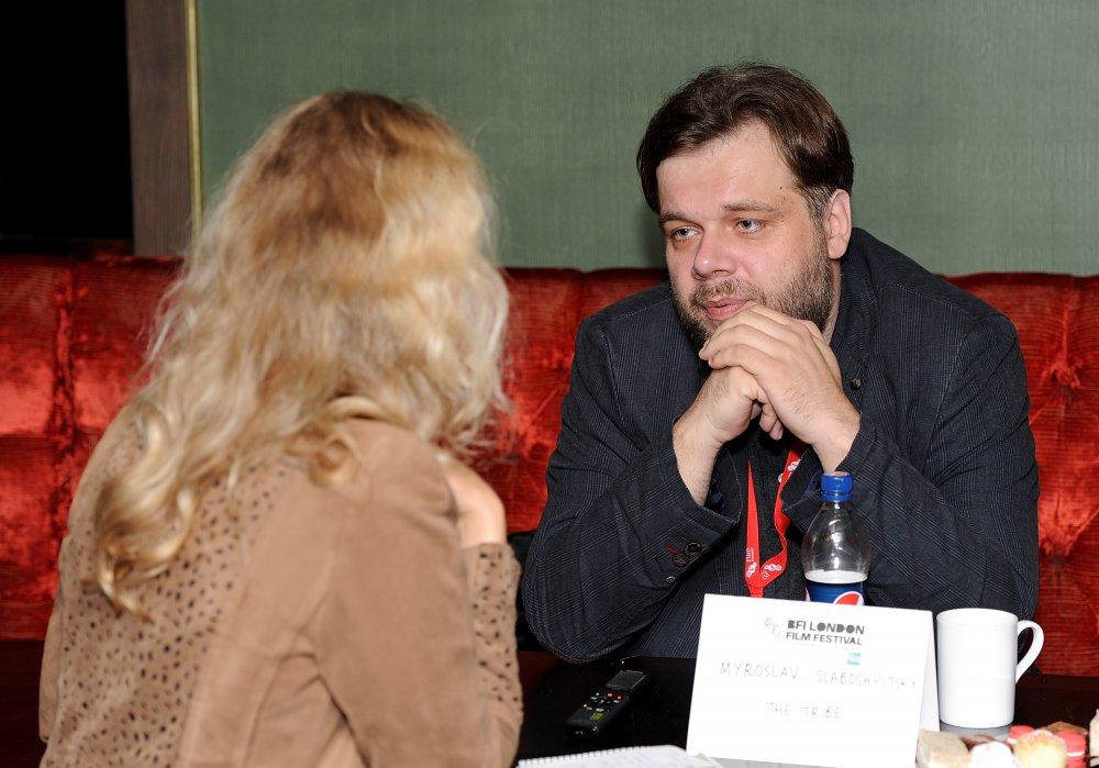 Myroslav Slaboshpytskiy attends the Filmmaker Tea during the 58th BFI London Film Festival