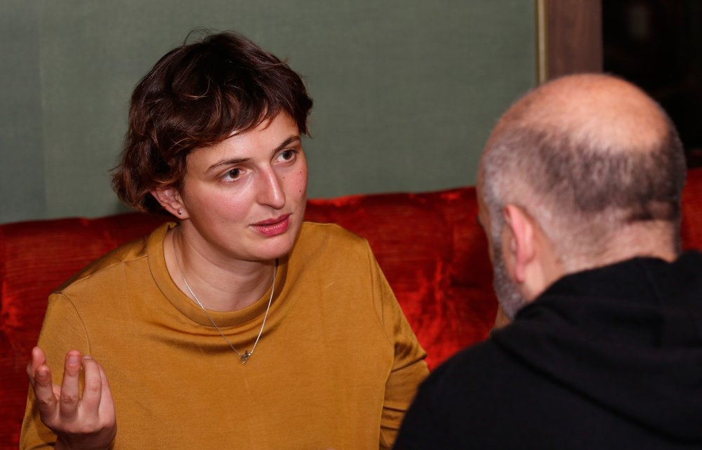 The Wonders director Alice Rohrwacher attends the Filmmaker Tea during the 58th BFI London Film Festival