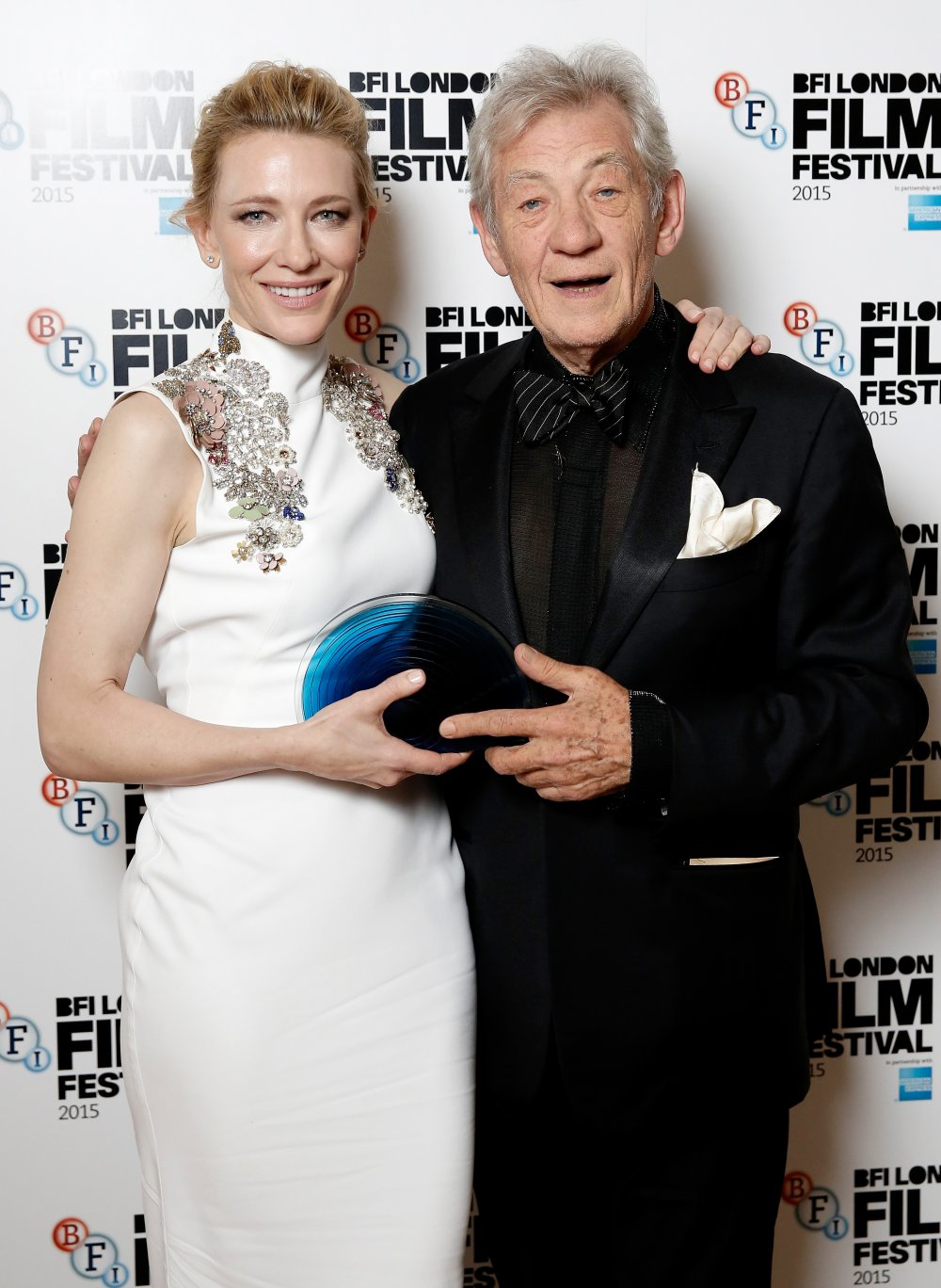 Cate Blanchett and Sir Ian McKellen at the BFI London Film Festival Awards ceremony