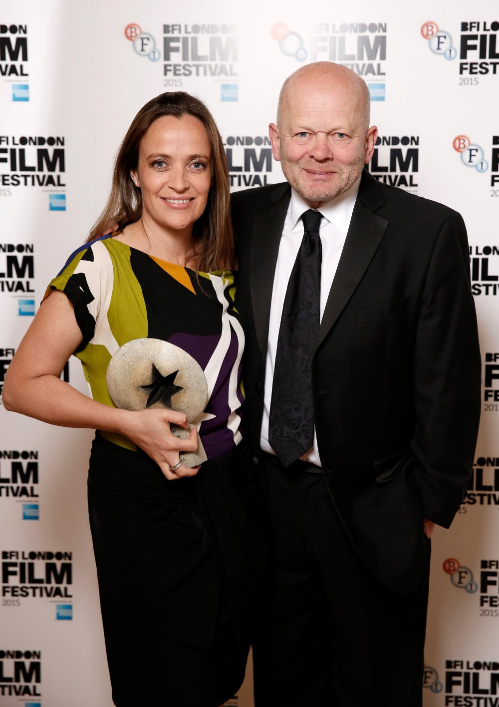 Sherpa director Jennifer Peedom and producer John Smithson with their award for Best Documentary