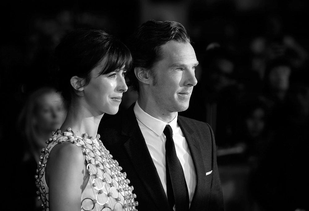 Benedict Cumberbatch and Sophie Hunter attend the Black Mass Virgin Atlantic Gala screening