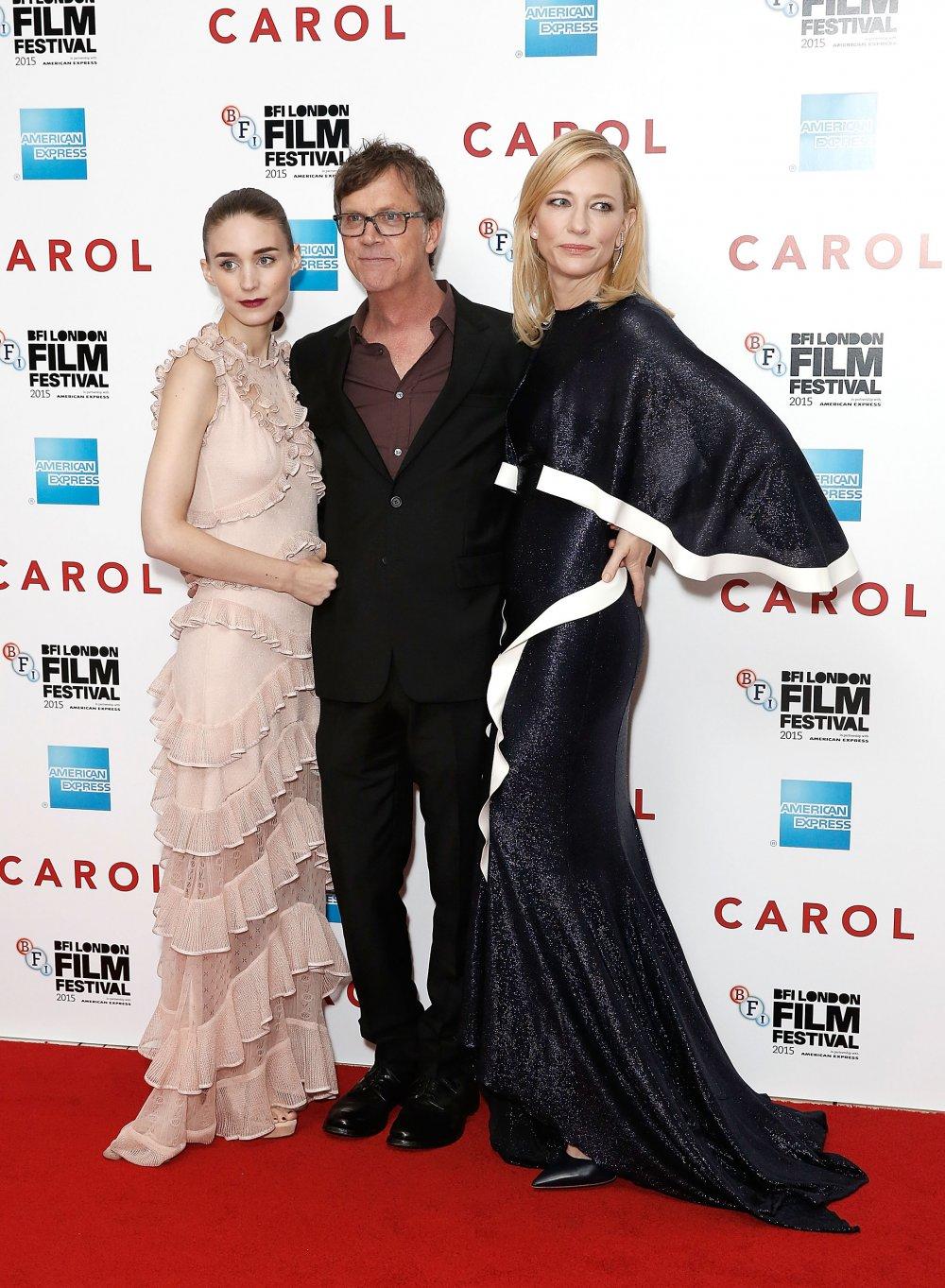 Rooney Mara, Todd Haynes and Cate Blanchett at the Carol America Express Gala