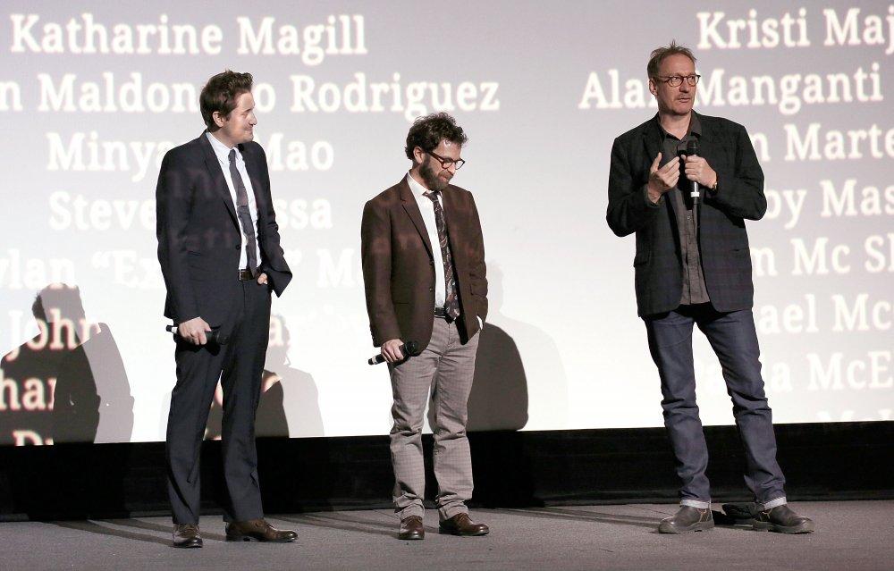 Duke Johnson, Charlie Kaufman and David Thewlis at the Surprise Film screening of Anomalisa