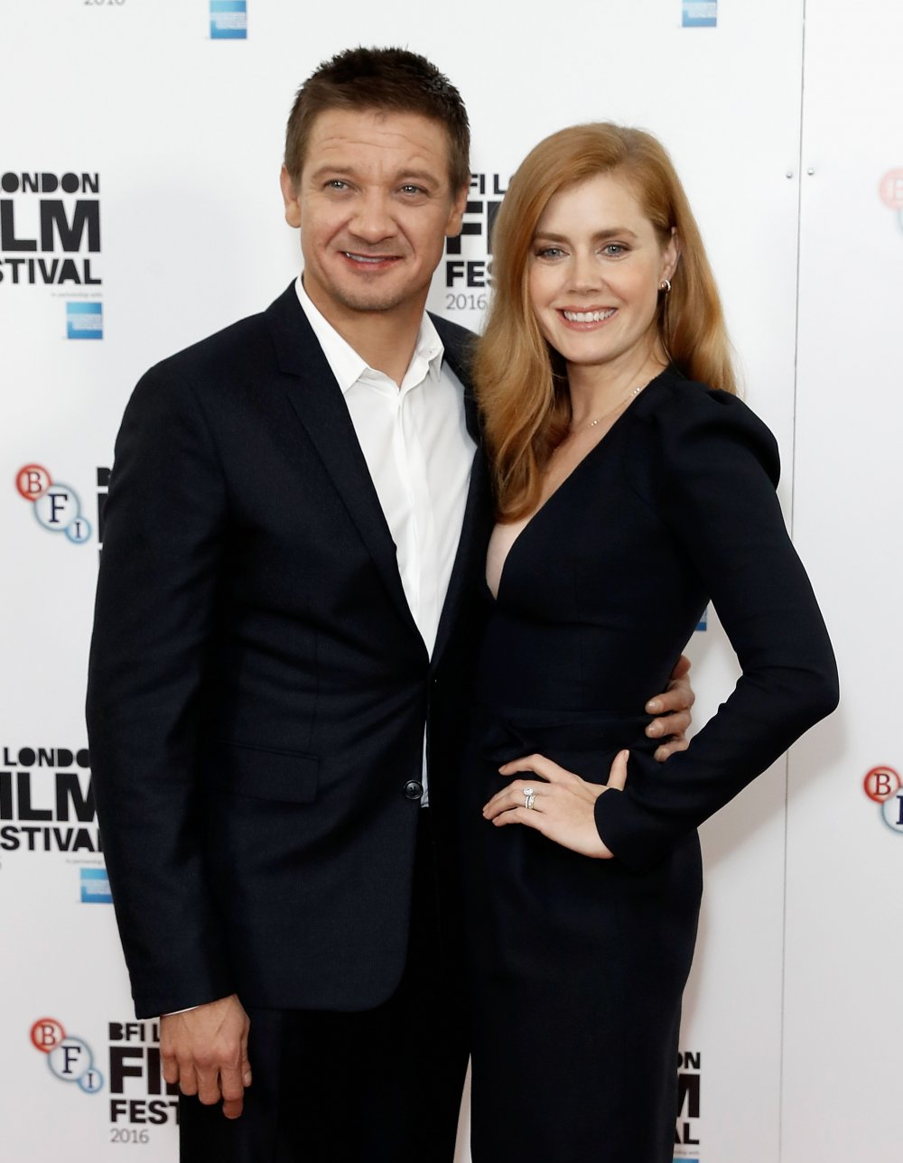 Jeremy Renner and Amy Adams at the Arrival press conference at the 60th BFI London Film Festival