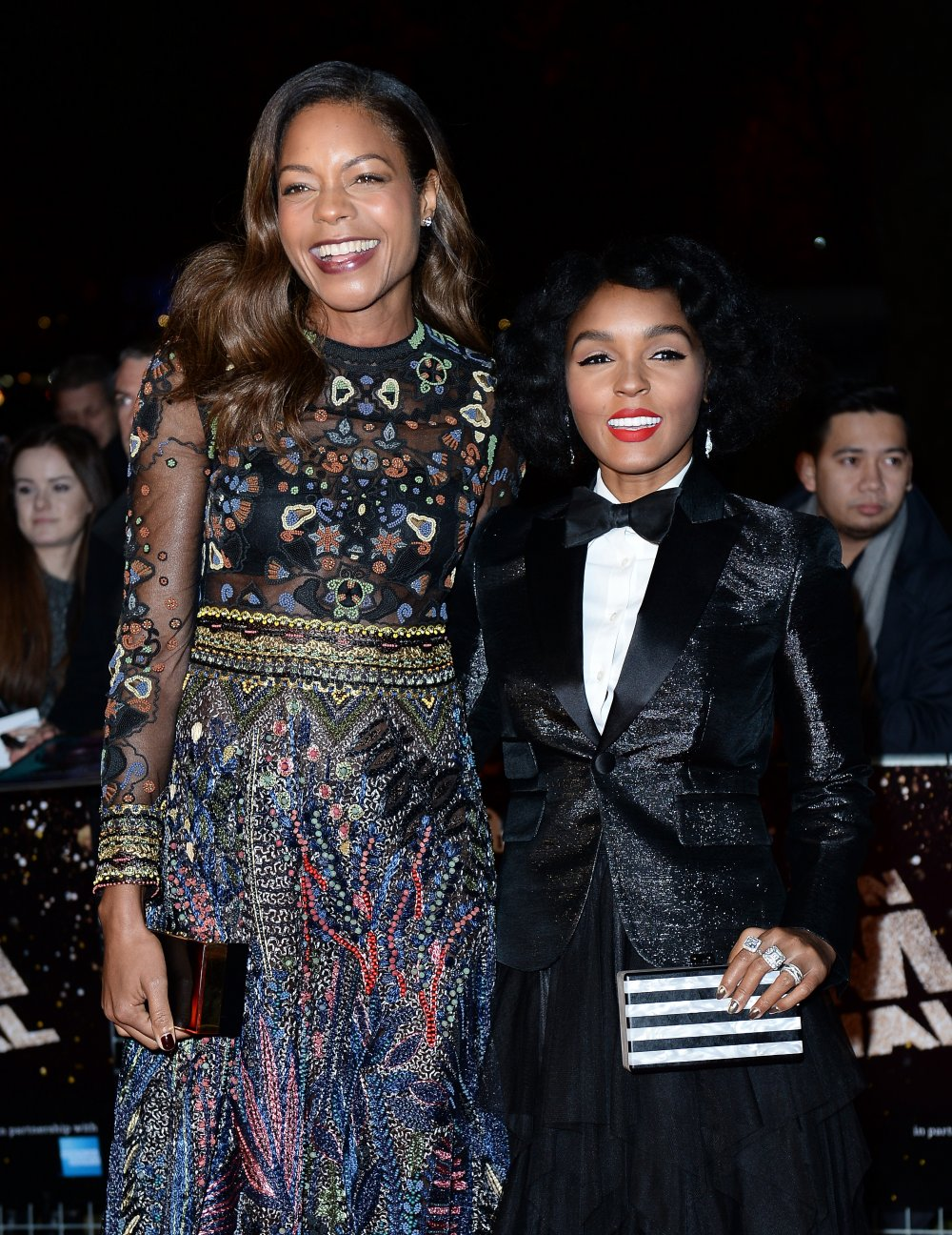 Naomie Harris and Janelle Monáe at the European premiere of Moonlight
