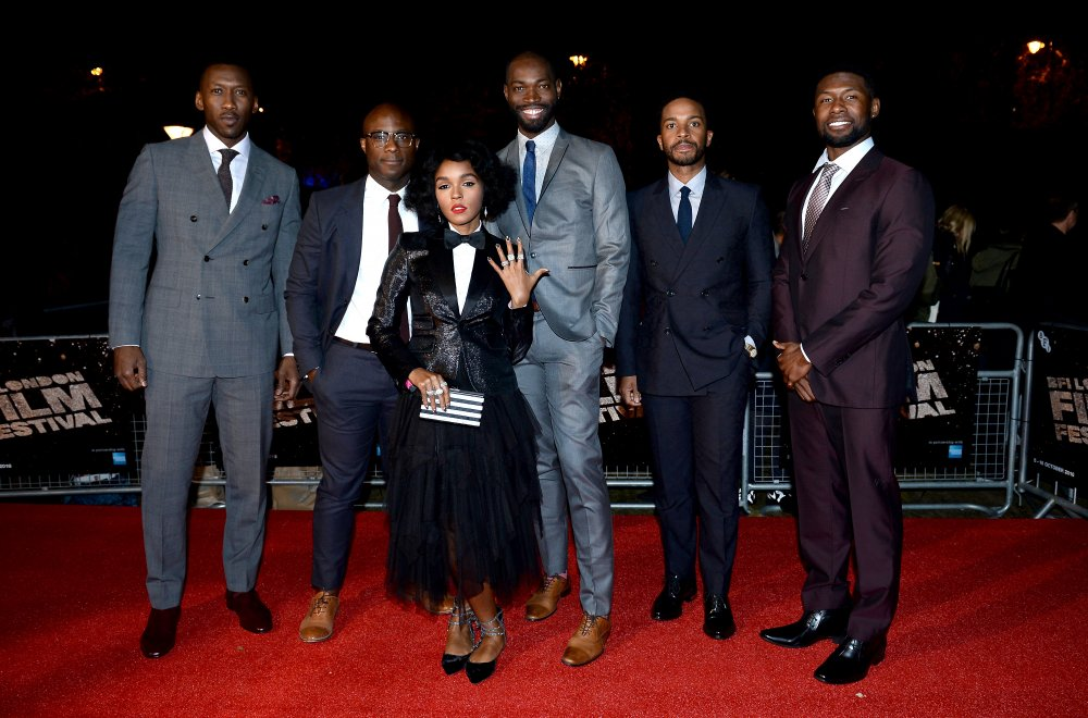 Mahershala Ali, Barry Jenkins, Janelle Monáe, Tarell Alvin McCraney, Andre Holland and Trevante Rhodes at the European premiere of Moonlight