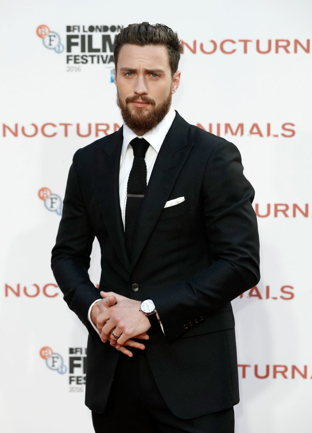 270734463bd Aaron Taylor-Johnson attends the Nocturnal Animals Headline Gala during the  60th BFI London Film