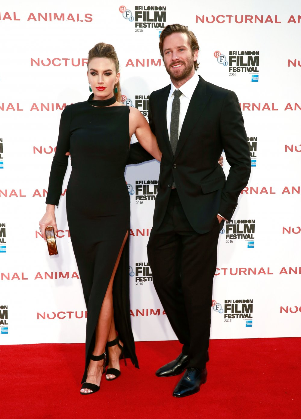 Elizabeth Chambers and Armie Hammer attend the Nocturnal Animals Headline Gala during the 60th BFI London Film Festival