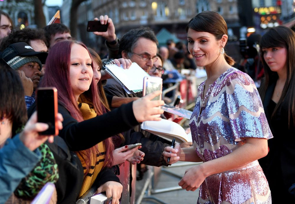 Gemma Arterton meets fans at the Their Finest Mayor of London's Gala screening during the 60th BFI London Film Festival