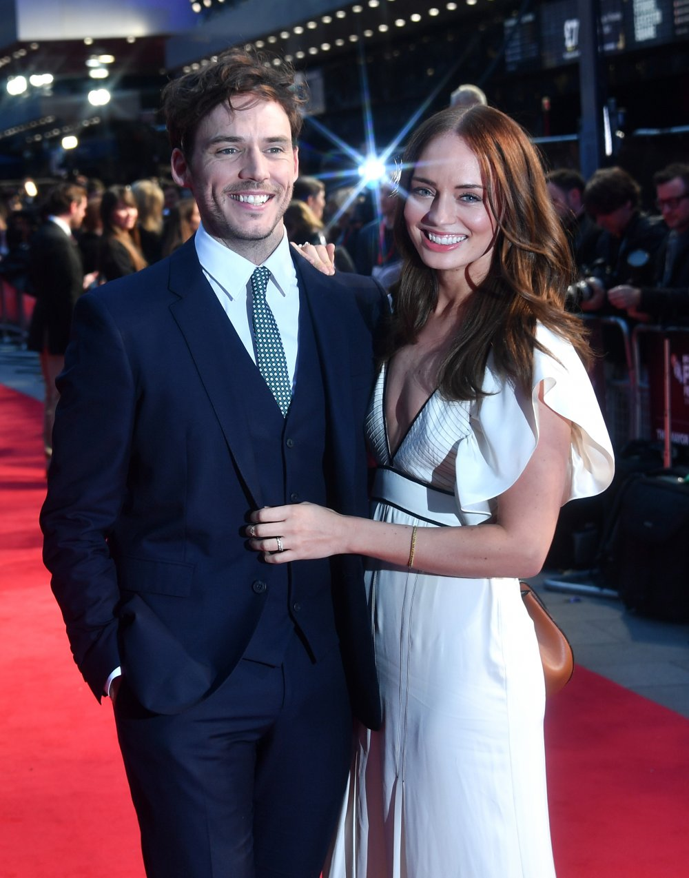 Sam Claflin and Laura Haddock attend the Their Finest Mayor of London's Gala screening during the 60th BFI London Film Festival