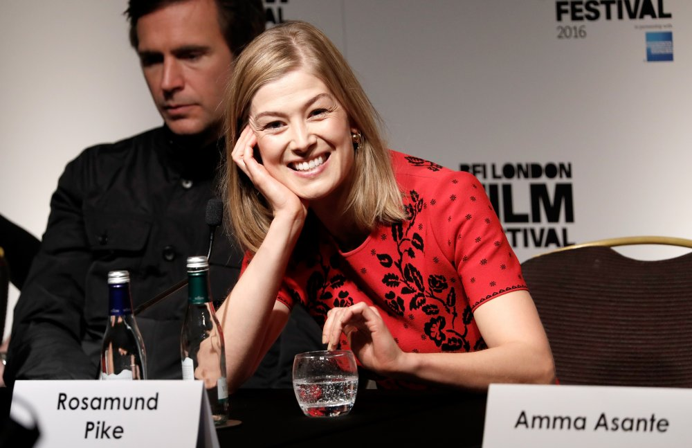 Actor Rosamund Pike attends the A United Kingdom press conference during the 60th BFI London Film Festival