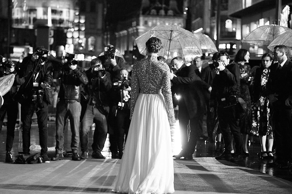 Keira Knightley on the red carpet of the Colette Premiere, BFI London Film Festival Patrons' Gala 2018. Image courtesy of Darren Brade