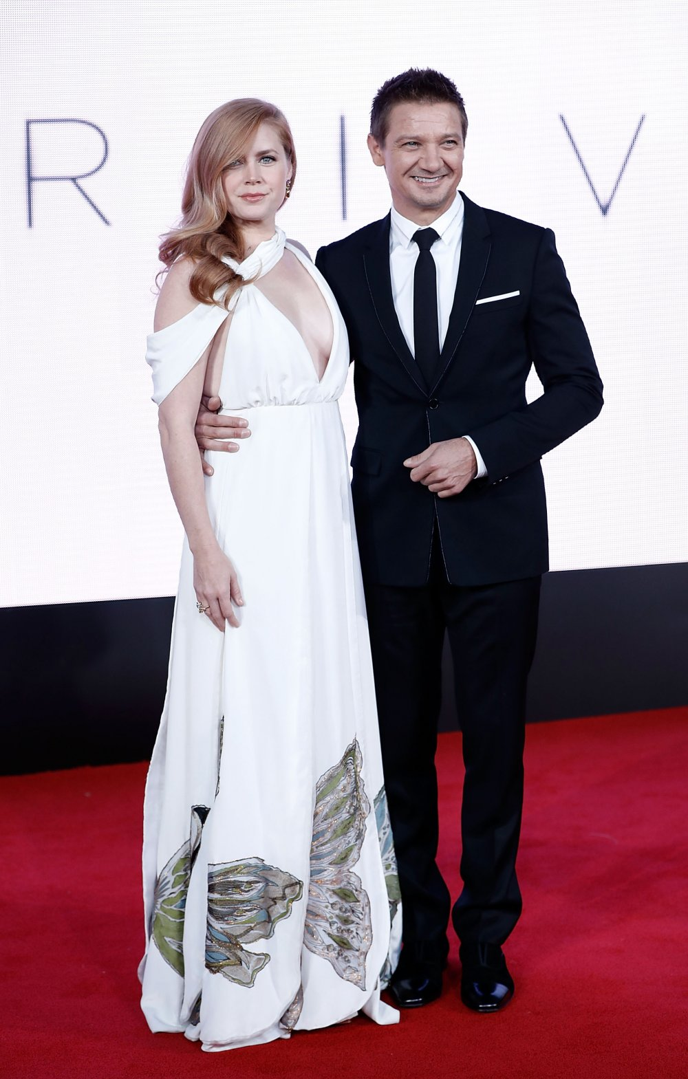 Amy Adams and Jeremy Renner attend the Arrival premiere during the 60th BFI London Film Festival
