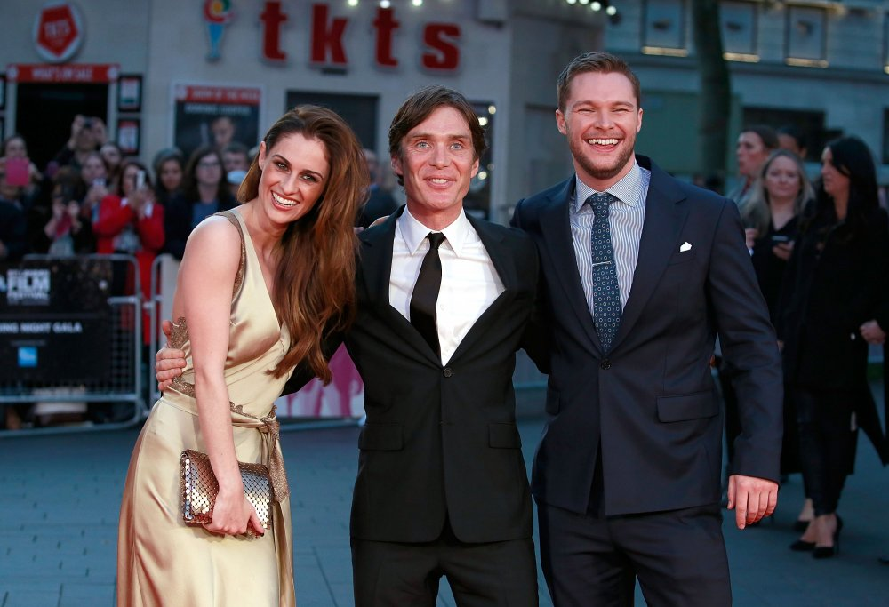 Madeline Mulqueen, Cillian Murphy and Jack Reynor attend attend the Free Fire Closing Night Gala screening during the 60th BFI London Film Festival