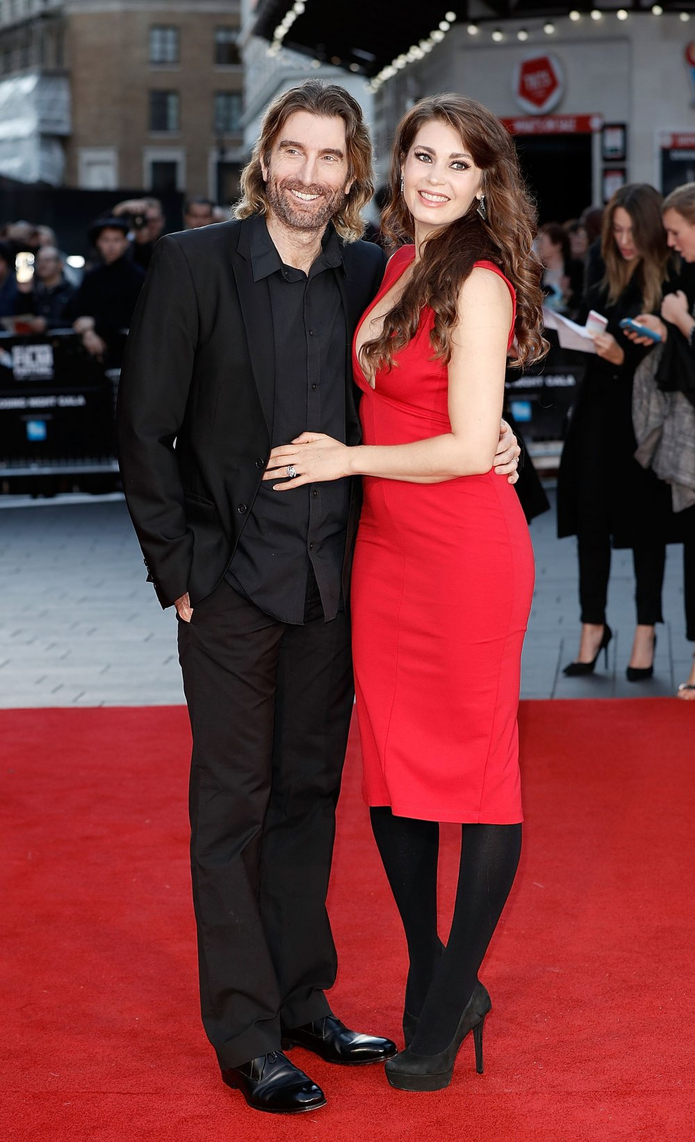 Sharlto Copley and Tanit Phoenix attend the Free Fire Closing Night Gala screening during the 60th BFI London Film Festival