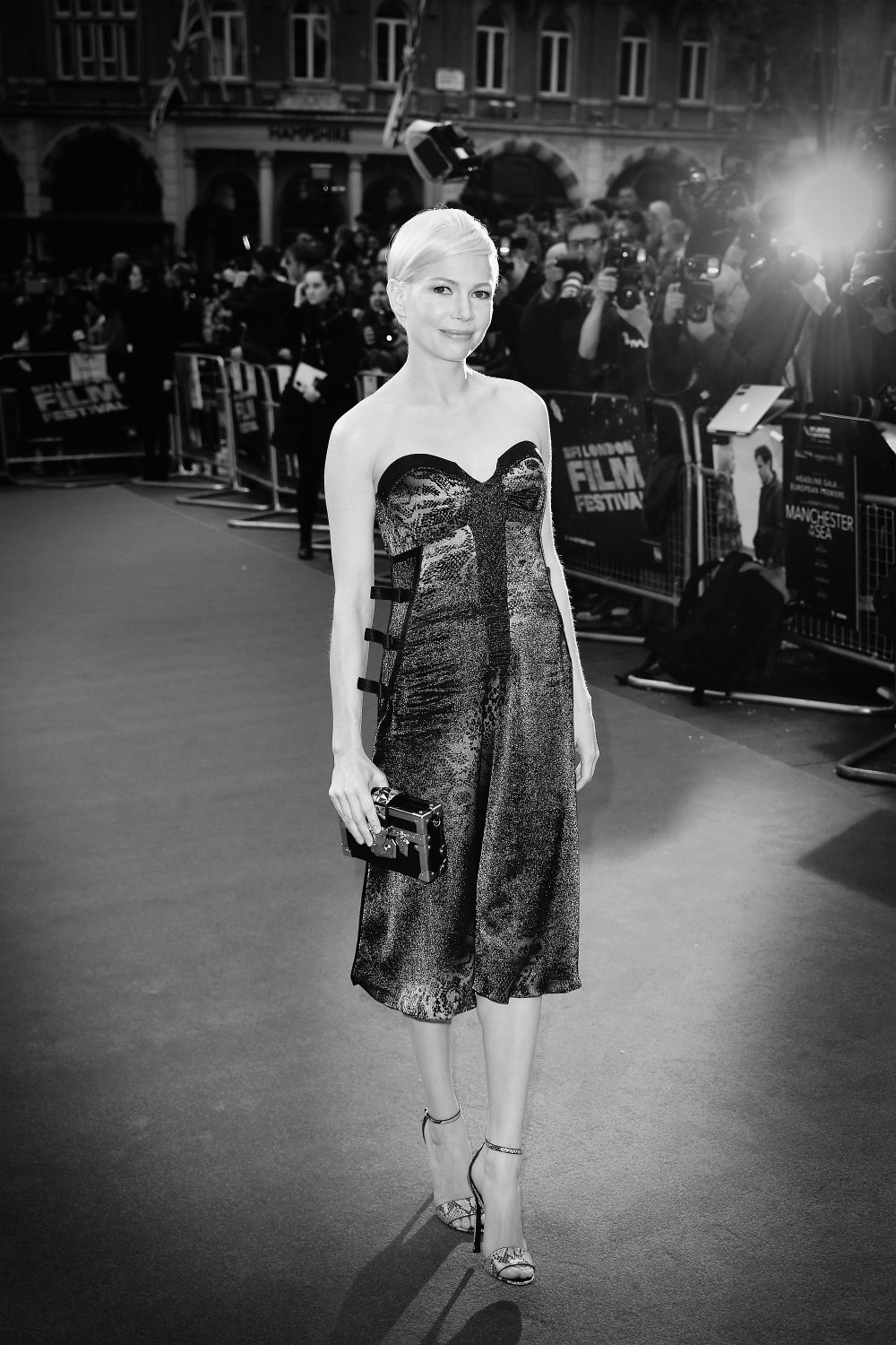 Michelle Williams attends the Manchester by the Sea premiere screening during the 60th BFI London Film Festival