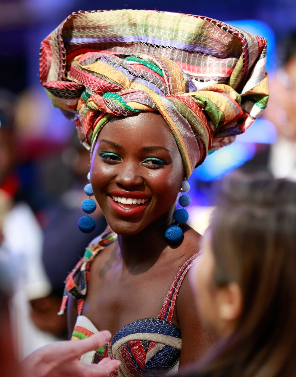 Lupita Nyong'o attends the Queen of Katwe Virgin Atlantic Gala screening during the 60th BFI London Film Festival