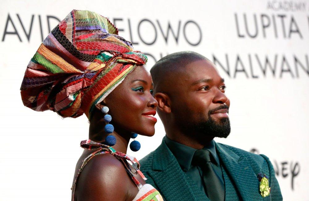 Lupita Nyong'o and David Oyelowo attend the Queen of Katwe Virgin Atlantic Gala screening during the 60th BFI London Film Festival