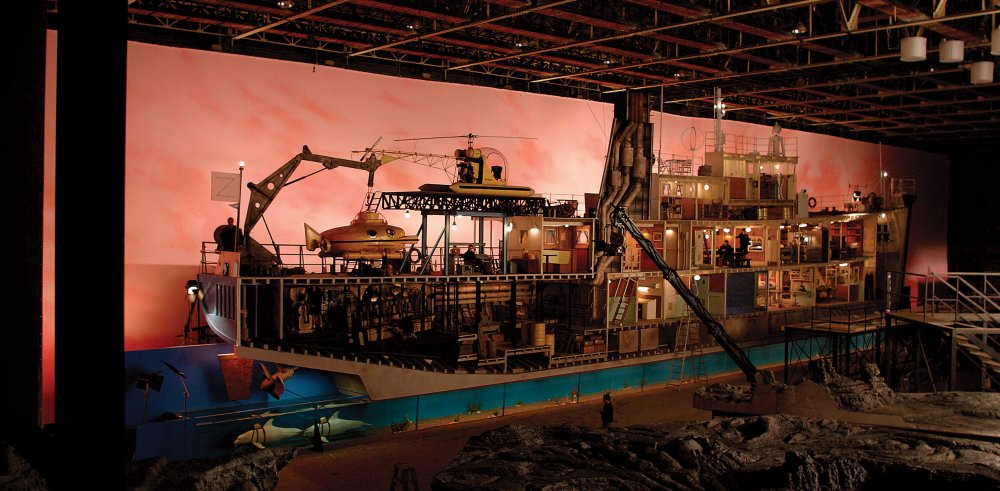 The model of the Belafonte built for the cutaway introduction to The Life Aquatic with Steve Zissou