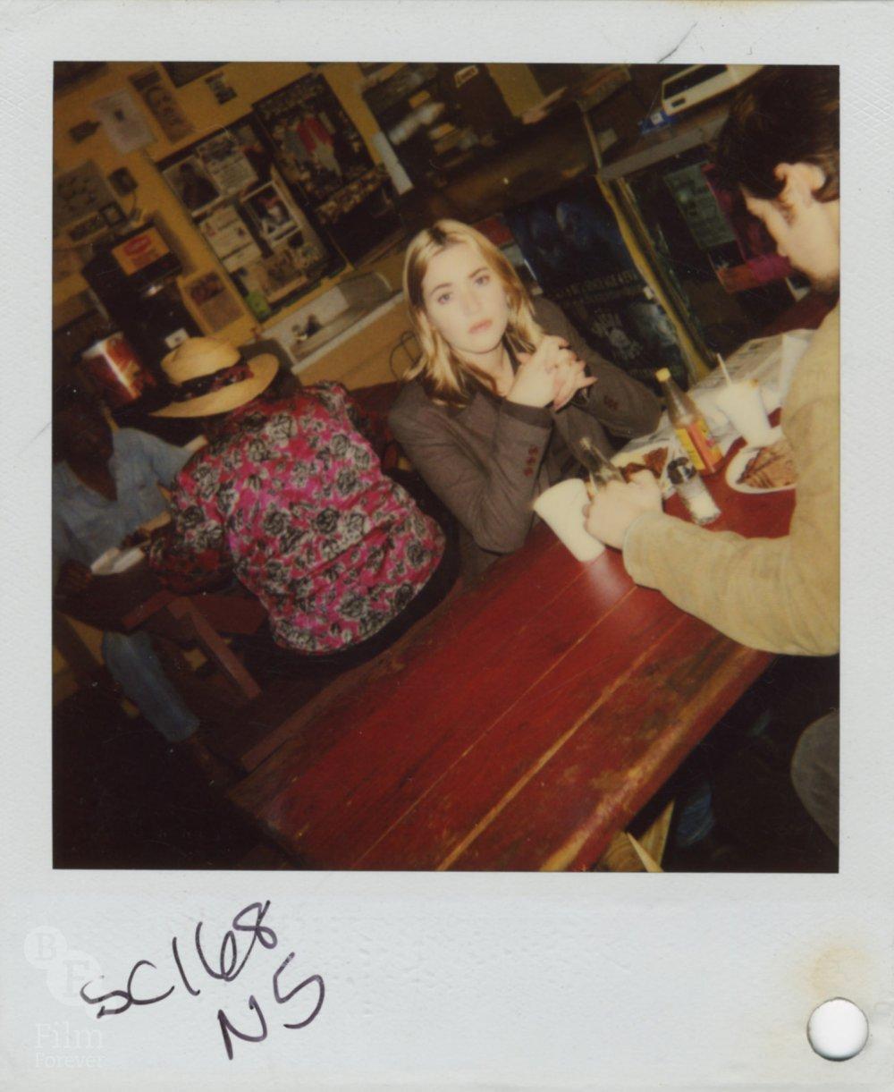 The Life of David Gale (2003) costume continuity Polaroid