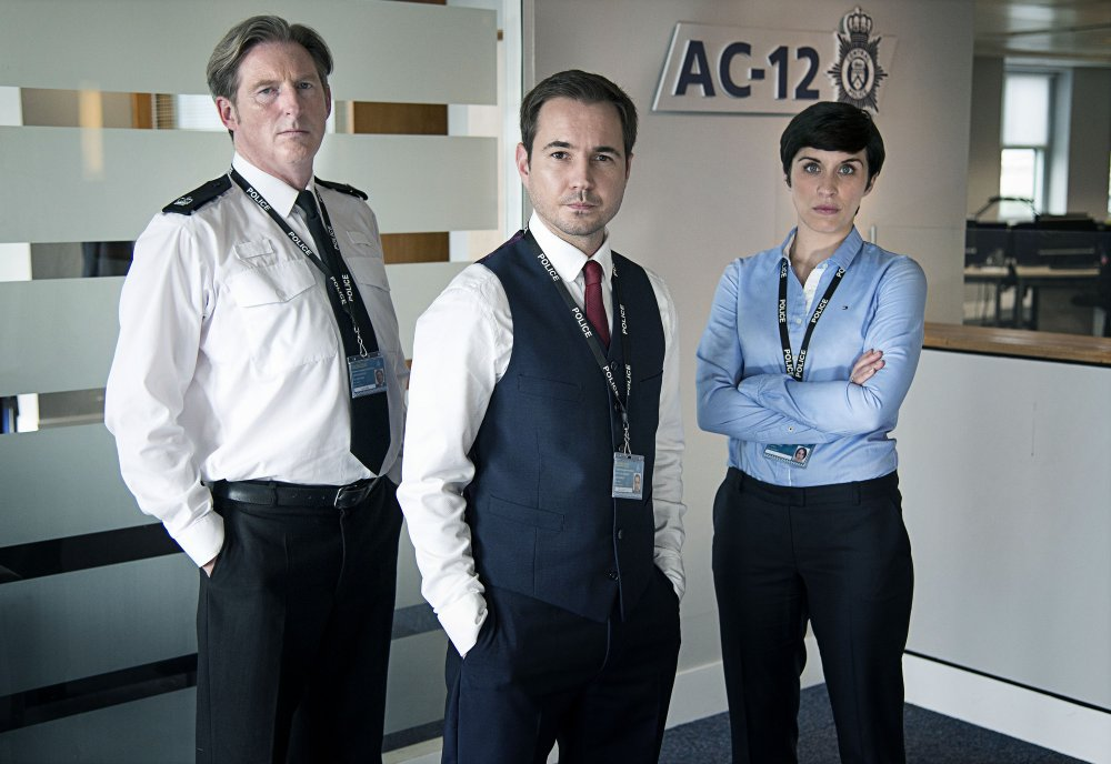 Adrian Dunbar, Martin Compston and Vicky McClure in Line of Duty (2012-)