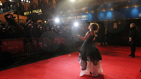 Actor Helena Bonham Carter on the red carpet at the Closing Night Gala screening of Great Expectations.