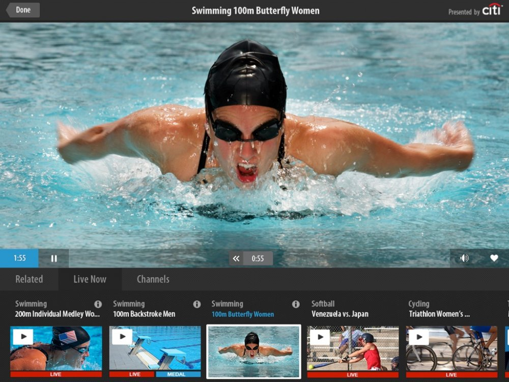 London Olympics 2012 ipad app live stream