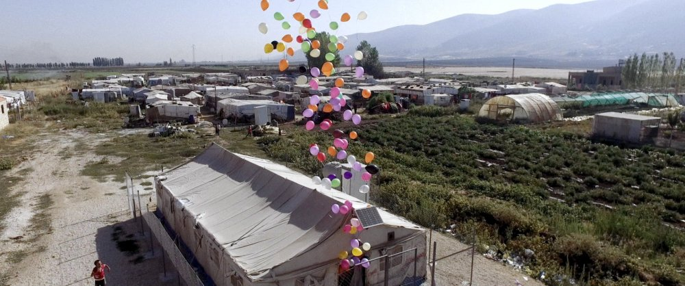 A shot of refugee camp Majdal Anjar in Lebanon's Beqaa Valley, from The Long Season