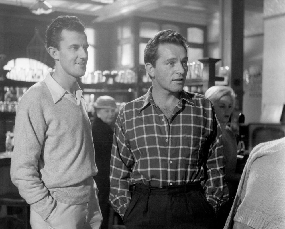 Richard Burton (right) with director Tony Richardson during production on Look Back in Anger (1959)