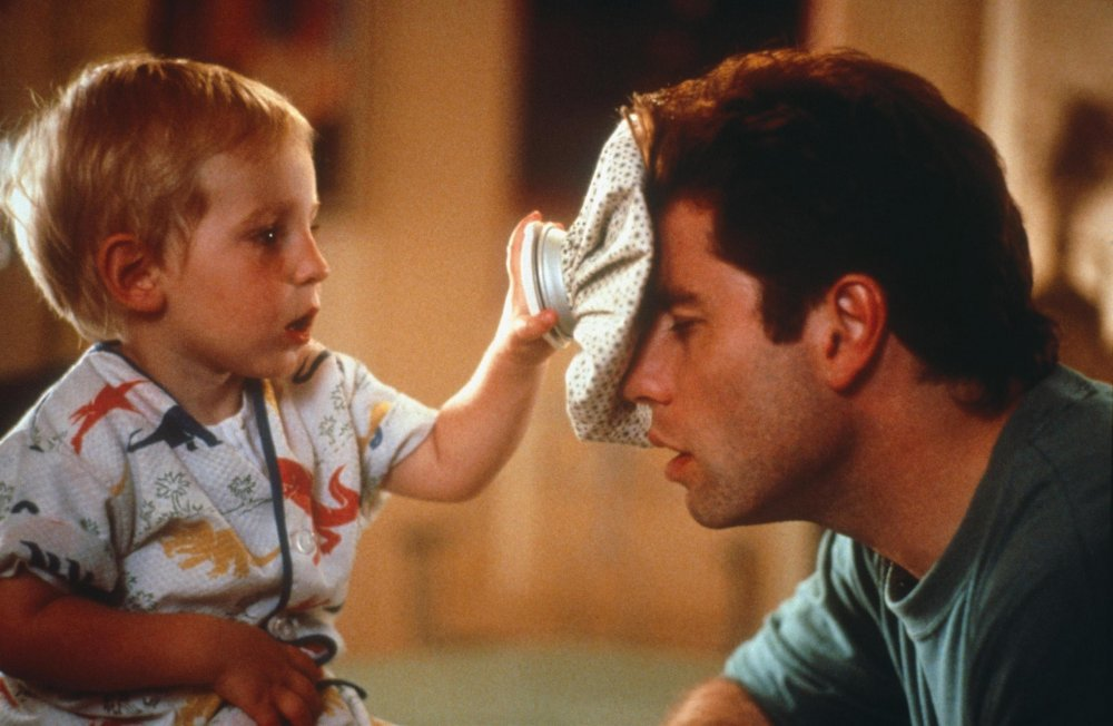 Travolta made a late-80s comeback with the talking-baby family comedy Look Who's Talking (1989)