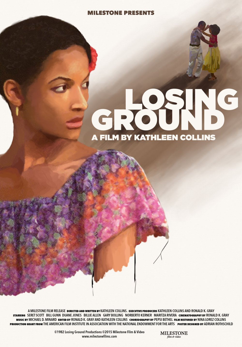 Milestone's 2015 home-cinema release poster for Losing Ground