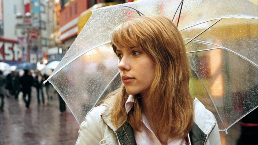 Scarlett Johansson, 'enclosed, yet exposed' in Lost in Translation (2003)