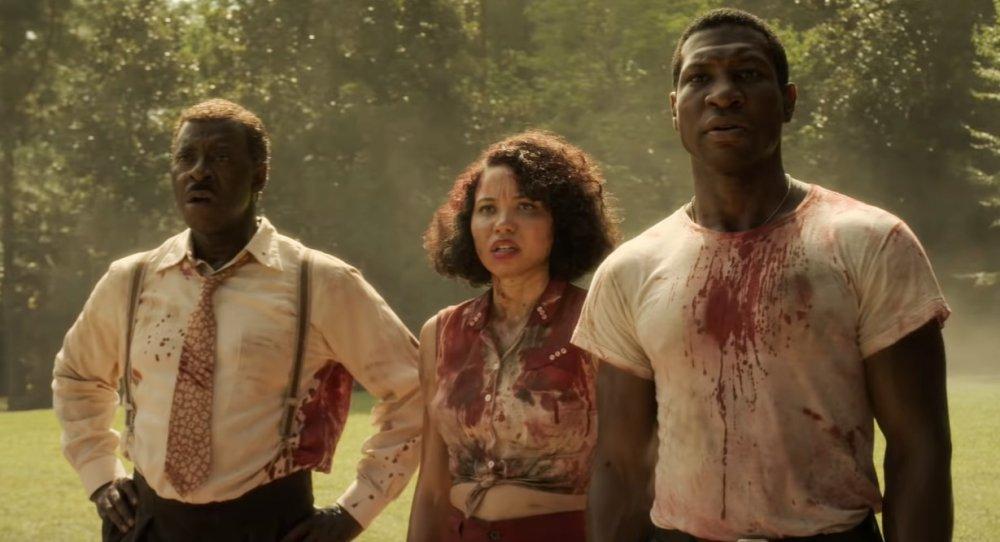Courtney B Vance, Jurnee Smollett-Bell and Jonathan Majors in Lovecraft Country