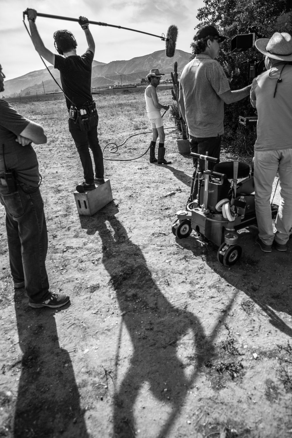 Harry Dean Stanton on location for Lucky