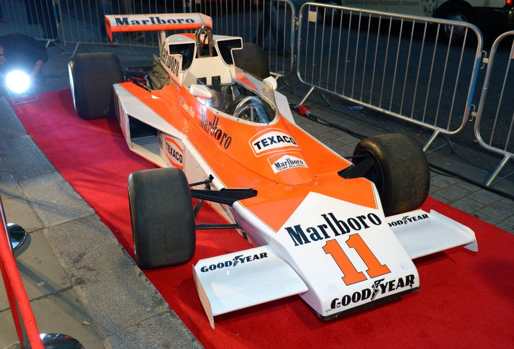 The Formula 1 car used in Ron Howard's Rush (2013)