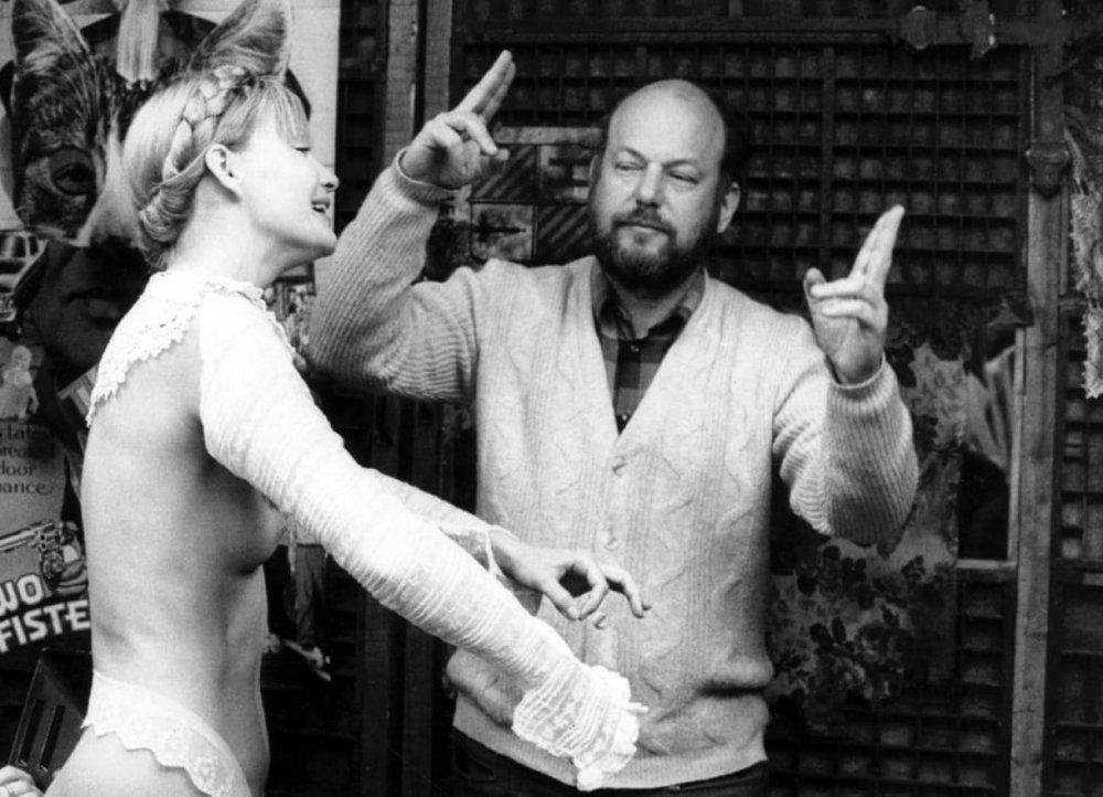 Dušan Makavejev directing Anna Prucnal in Sweet Movie (1974)