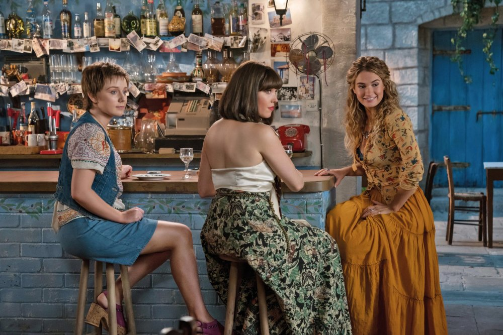 Alexa Davies as Young Rosie, Jessica Keenan Wynn as Young Tanya with Lily James