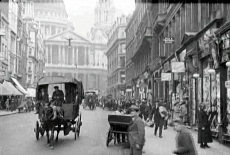 St Pauls looms in The Man from Home (1922)