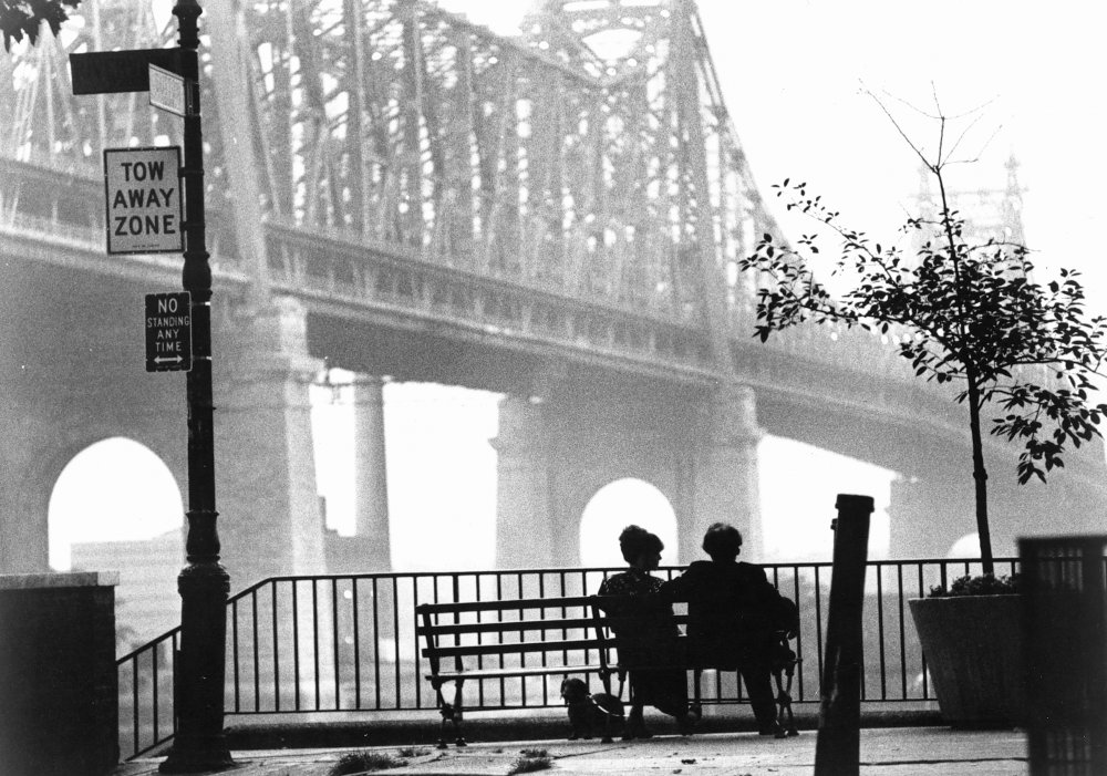 An iconic shot of New York's Queensboro Bridge from Manhattan, with lovers Woody Allen and Diane Keaton watching the dawn break over the city. Willis's gorgeous shot was used as the film's poster image