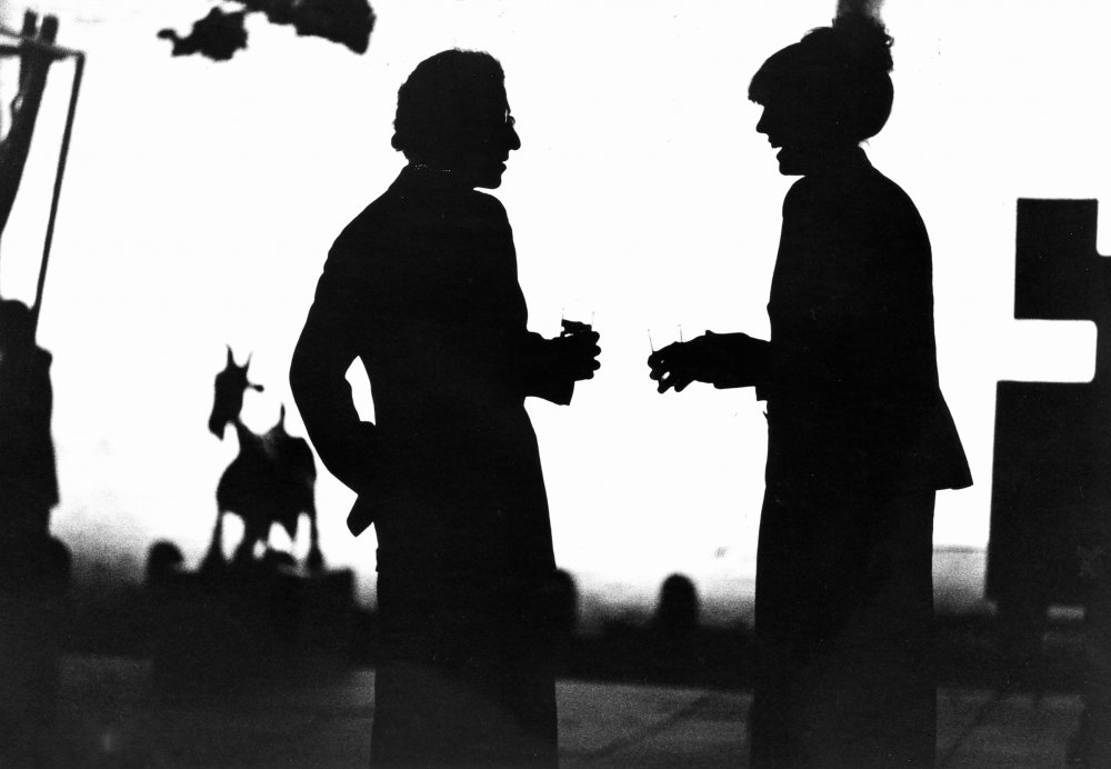 Woody Allen and Diane Keaton shot in silhouette by Gordon Willis in Allen's 1979 classic Manhattan, a black-and-white ode to New York City that contains some of Willis's most indelible images as cinematographer