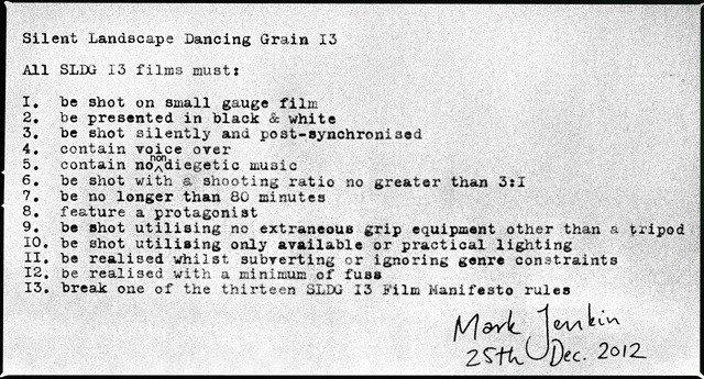 Mark Jenkin's Silent Landscape Dancing Grain 13 manifesto