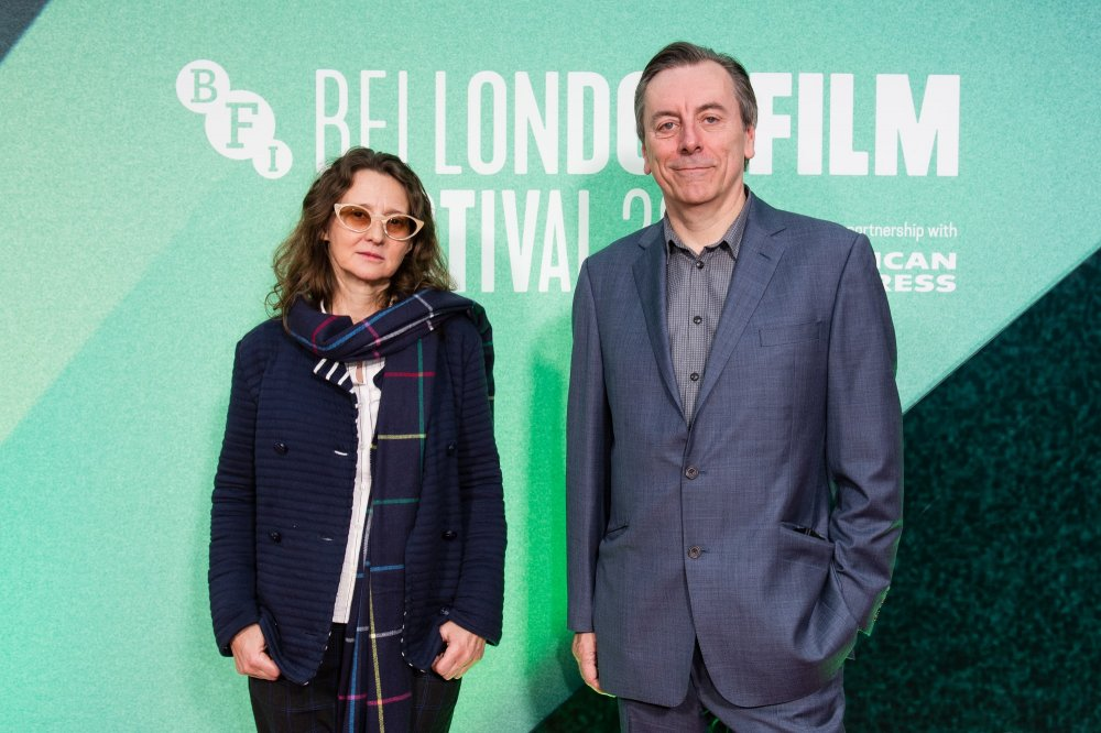 Lucrecia Martel and Nick James on the red carpet for the Sight & Sound London Film Festival gala premiere of Zama (2017)