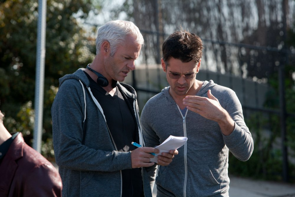 Martin McDonagh on set with Colin Farrell