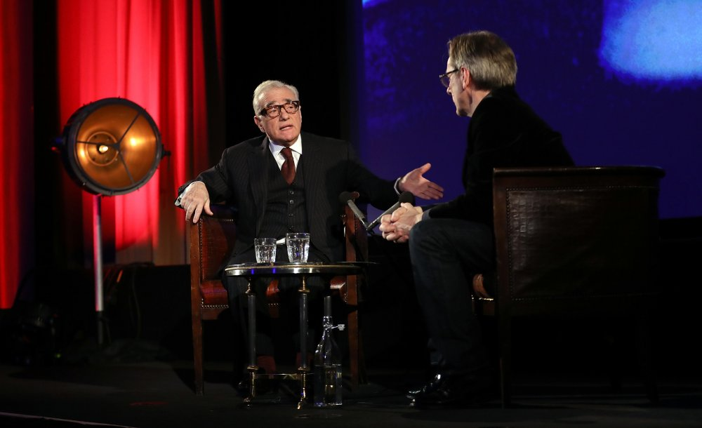 Martin Scorsese with Nick James on stage at BFI Southbank in 2017