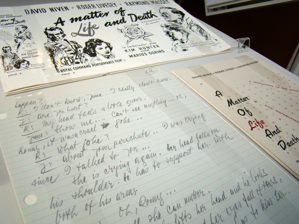 Handwritten treatment for A Matter of Life and Death (1946)