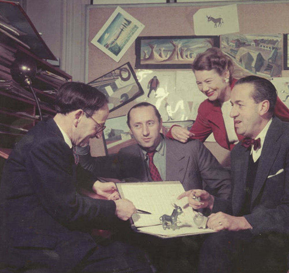 Composer Matyas Seiber, writer-producer-directors John Halas and Joy Batchelor, and animation director John Reed