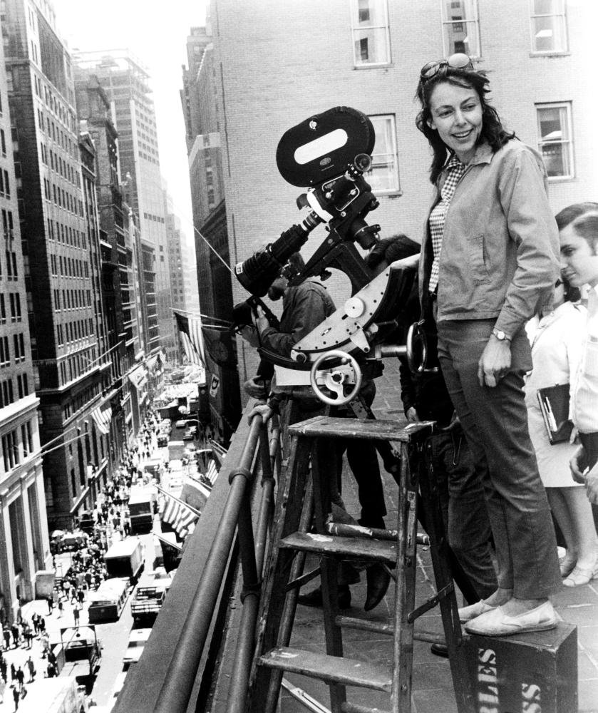 Comedian, writer and director Elaine May filming 1971's A New Leaf