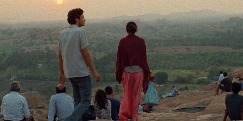 Roman Kolinka as Gabriel and Aarshi Banerjee as Maya in Maya