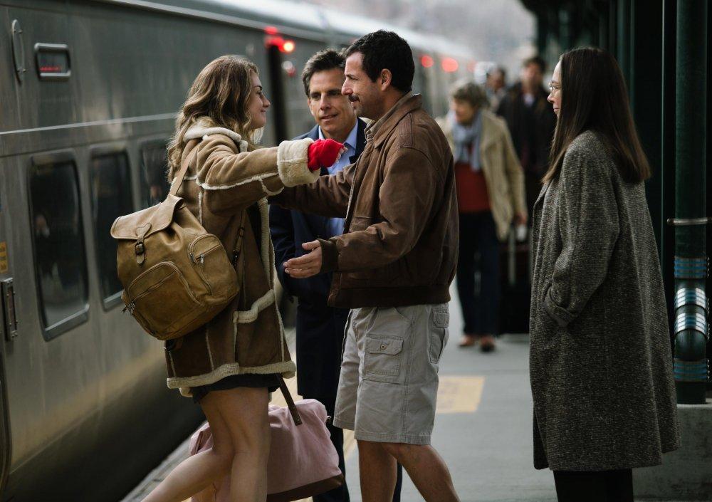Eliza Meyerowitz (Grace Van Patten) with her uncle Danny (Adam Sandler) and uncle Matthew (Ben Stiller)