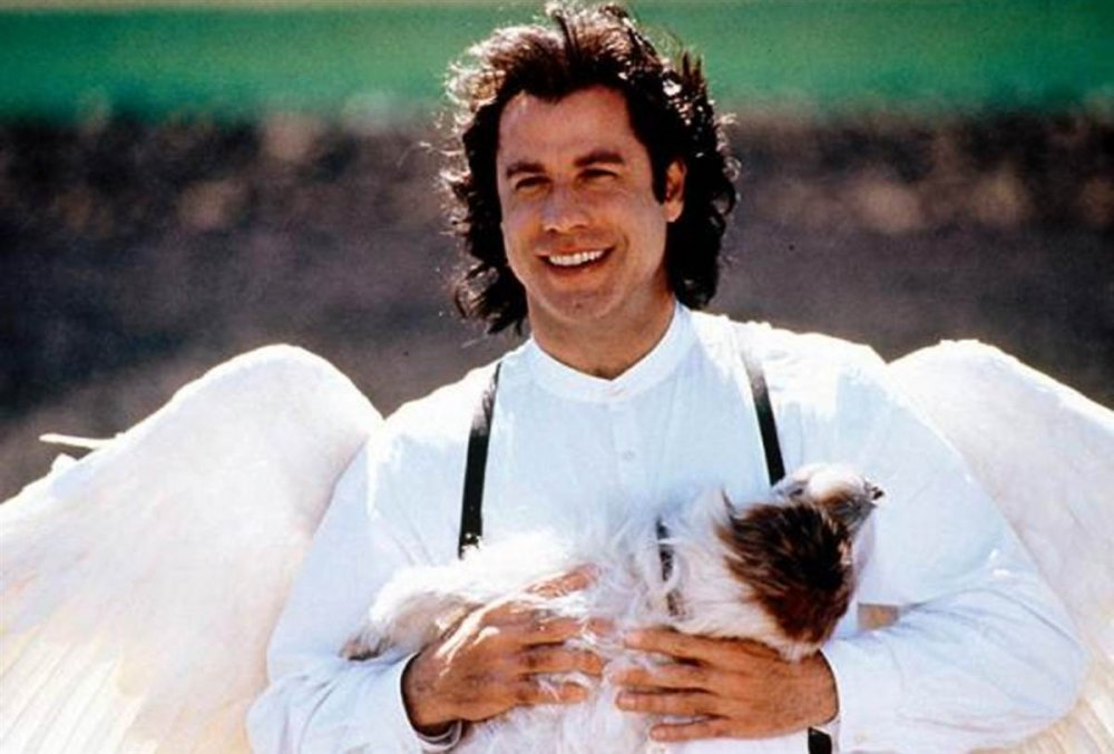 In Nora Ephron's romantic comedy Michael (1996), Travolta plays an angel sent to earth to mend broken hearts